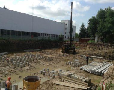Строительство бизнес-центра Гермес в г. Минске, 2013 г.