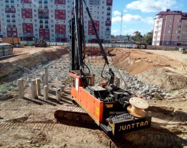 Строительство двух двухсекционных многоквартирных жилых домов по ул. Зелёной в г. Фаниполе, Дзержинского района, Минской области, 2016 г.