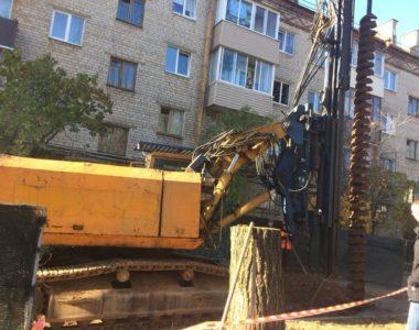 Укрепление котлована по ул. Фроликова в г. Минске